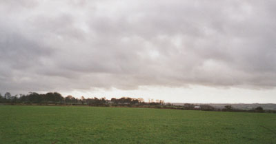 Persistent cloud over Llansadwrn (looking W) on 3 Feb. 2001. Photo © D. Perkins.