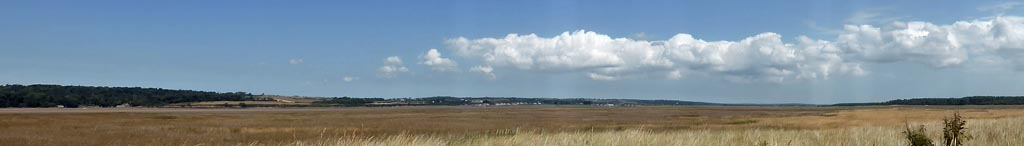 A dry Cefni Marsh with convergence cloud formation over E Anglesey.